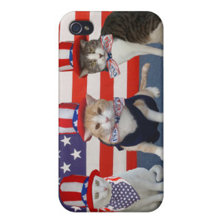 July 4th/Patriotic Cats/Kitties Cover For iPhone 4