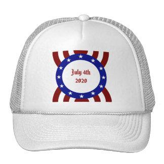 July 4th Patriotic Circle of Stars Hats