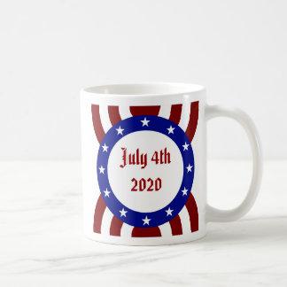 July 4th Patriotic Circle of Stars Mugs