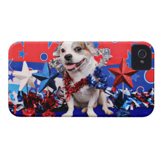 July 4th - Pitbull X - Opie iPhone 4 Cover