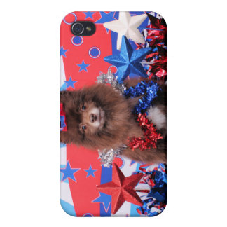 July 4th - Pomeranian - Fred iPhone 4/4S Cases