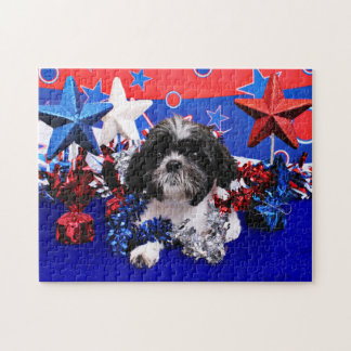 July 4th - Shih Tzu - Sadie Puzzles