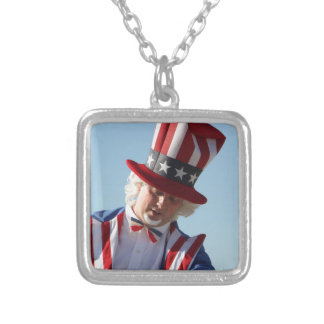 July-4th Silver Plated Necklace