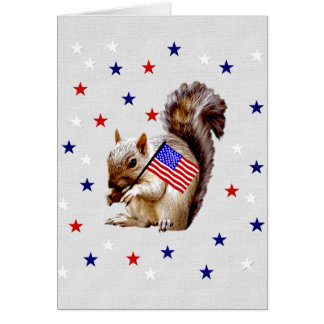 July 4th Squirrel Card