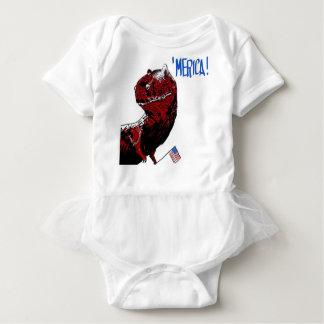 July 4th T Rex Baby Bodysuit