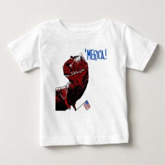 July 4th T Rex Baby T-Shirt