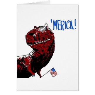 July 4th T Rex Card