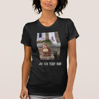 July 4th Teddy Bear Teenage Girl's T-Shirt