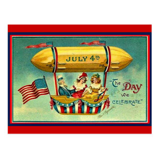 July 4th - The Day We Celebrate Postcard