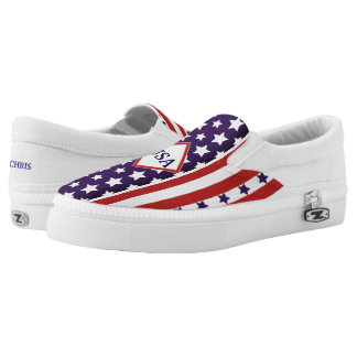July 4th USA Independence Stars & Stripes (cust.) Printed Shoes