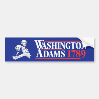 July 4th Washington Adams Campaign Bumper Sticker