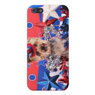 July 4th - Yorkie - Vinnie iPhone 5 Case