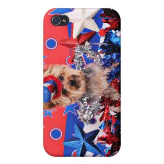 July 4th - Yorkie - Vinnie iPhone 4 Case