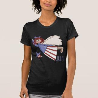 July Angel Summer Patriotic Design Tshirt