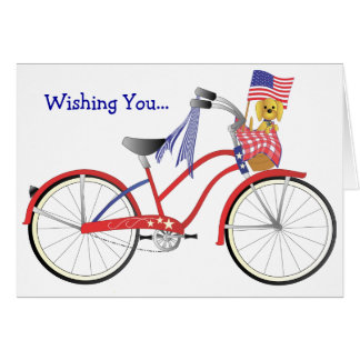 July Bicycle Card