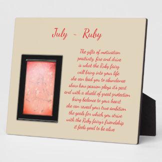 July Birthstone Ruby Plaque