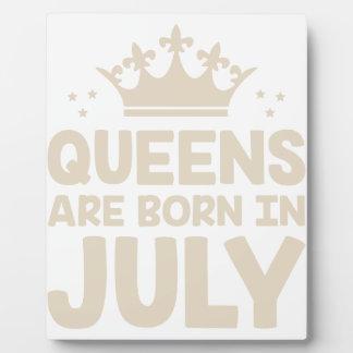 July Queen Plaque