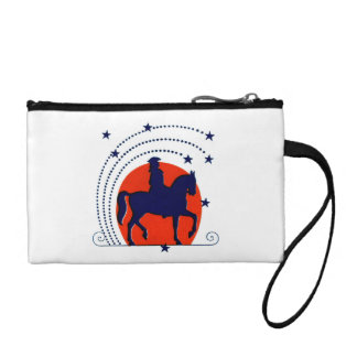 July the 4th horse patriotic Independence Day Change Purses