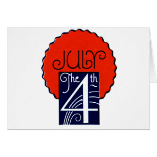 July the 4th mod retro patriotic Independence Day Greeting Card