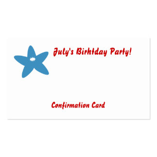 July's Birthday Party!-Customize Business Card Template