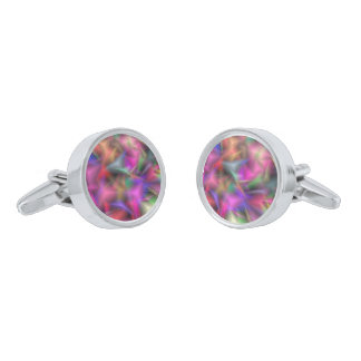 jumbled fantasy 1 silver finish cuff links