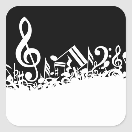 Jumbled Musical Notes Stickers