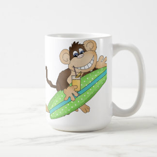 Jumbo Beach Monkey coffee mug
