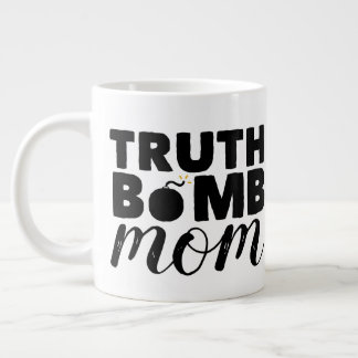 Jumbo Coffee Mug Truth Bomb Mom Text Logo