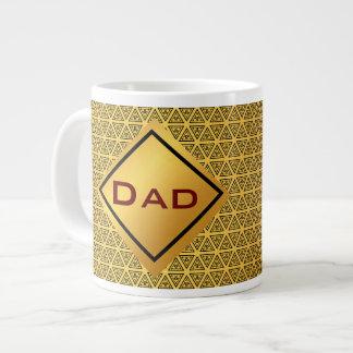 Jumbo gold pattern monogram giant coffee mug