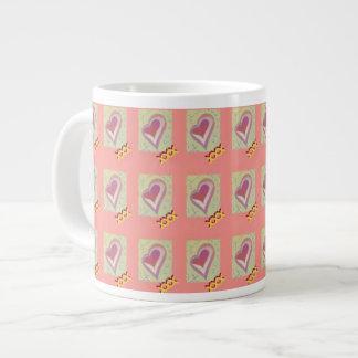 Jumbo Heart Kiss Design Mug Pink Jumbo Mug