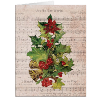 Jumbo Holly Notes Christmas Card