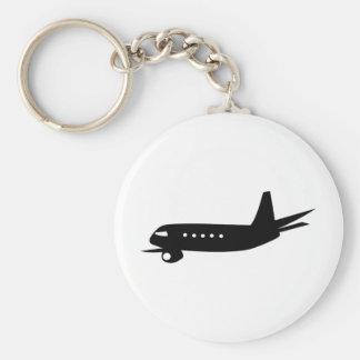 Jumbo Jet Basic Round Button Key Ring