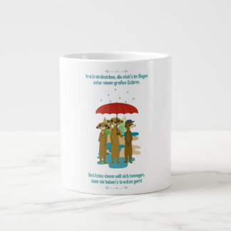 Jumbo jet cup with earth males