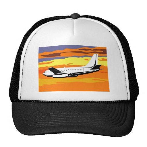 jumbo jet plane airplane aircraft flying flight hat
