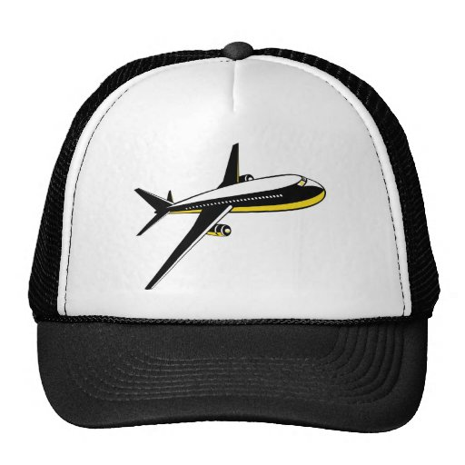 jumbo jet plane airplane aircraft flying flight mesh hat