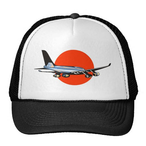 jumbo jet plane airplane aircraft mesh hats