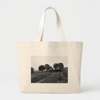 Jumbo jet shopping bag lonely highway