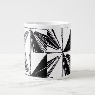 Jumbo Large Coffee Mug Cup Black White Block