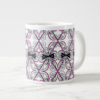 Jumbo Large Mug Cup Scrolls and Bows