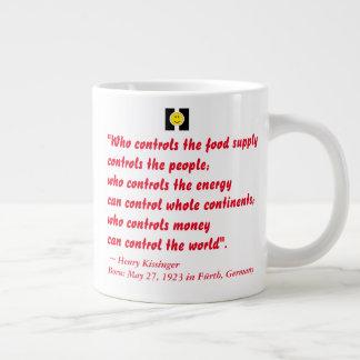 JUMBO MUG happiquotes - money (Thomas Jefferson)