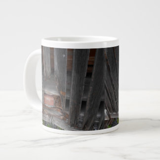 Jumbo Mug with old barn and brick