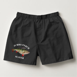 Jumbo Perch Funny Fishing Underwear Boxers
