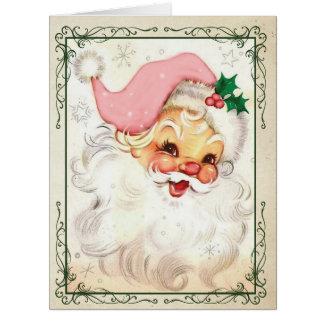 Jumbo Pink Kringle Christmas Card