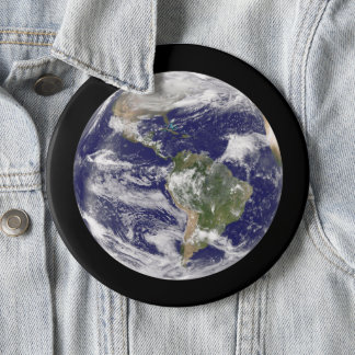 Jumbo Planet Earth from Space Photograph 6 Cm Round Badge