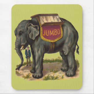 Jumbo, PT Barnum's great elephant Mouse Pad