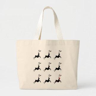 Jumbo Reindeer Pattern Tote Jumbo Tote Bag