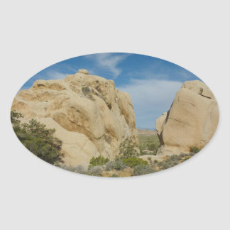 Jumbo Rocks at Joshua Tree National Park Oval Sticker