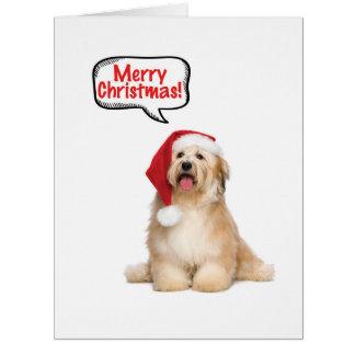 Jumbo Santa Pups Christmas Card