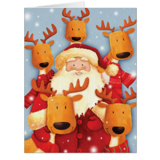 Jumbo Santa Selfies Christmas Card