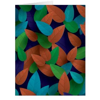 Jumbo Season's Leaves Seasons Greetings Card